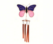 Gift Essentials GE160 Purple & Pink Butterfly Wind Chime