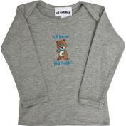 Lil Cub Hub 4CLSTBBG-1218 Grey Long Sleeve T-Shirt - Boy Bear 12-18 months