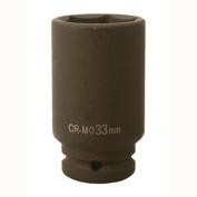 Big Roc Tools IDS1233 33Mm 0.5 in. Dr Cr-Mo Air Deep Impact Socket