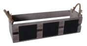 Cheungs FP-3770 Wooden Rectangular Ledge Planter Box with Chalkboard