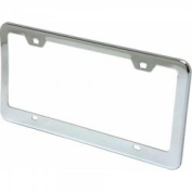 AutoLoc Power Accessories AUTFRAMEC1 Bright Chrome Licence Plate Frame with Bolts and Caps