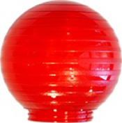 Polymer Products 3211-52630 Sphere 15cm . Etched Red Acrylic Festival Replacement Globe Pack Of 6