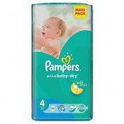 Pampers Nappies Size 4 58 Pack