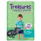 Treasures Slim Nappy Pants Toddler 10-15kg 18 Pack