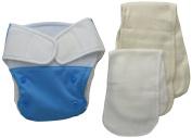 BabyKicks Premium Cloth Nappy Hook and Loop Closure, Azure