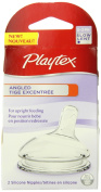 Playtex Angled Nipple, Slow Flow, 2-Count