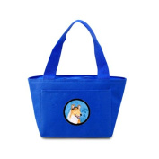 Caroline's Treasures SS4746-BU Collie Smooth Lunch or Doggie Bag, Large, Blue