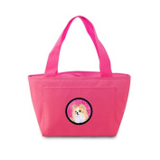 Caroline's Treasures SS4750-PK Chihuahua Lunch or Doggie Bag, Large, Pink