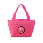 Caroline's Treasures LH9381PK Airedale Lunch or Doggie Bag, Large, Pink