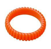 KidKusion Gummi Teething Bracelet Cable, Orange