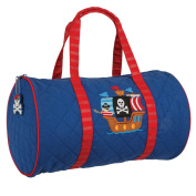 Stephen Joseph Quilted Duffle Pirate Nappy Tote Bag, Multicoloured, 23cm x 38cm