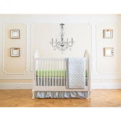 Summer Infant 4 Piece Classic Bedding Set with Adjustable Crib Skirt, Garden Grey