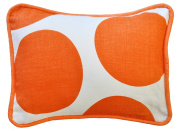 New Arrivals Accent Pillow, Spot On in Tangerine