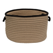 Colonial Mills Boat House Basket, 36cm by 25cm , Black