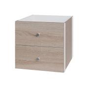 Solano Modena 2 Drawer Cube Insert Oak