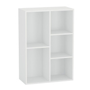 Sort It Bookcase 5 Cubby White