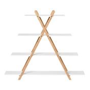 Sort It Bamboo X Frame Shelf 4 Tier