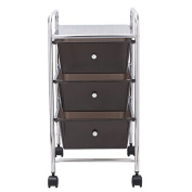 Sort It Trolley 3 Drawer Black