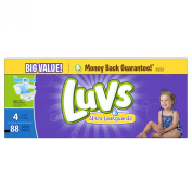 Luvs Nappies Ultra Leakguards With Night Lock Size 4 10-17kg Big Value - 88 CT
