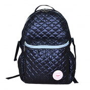 Landuo Women's Baby Nappy Backpack Guilted Nappy Bag Size M Black