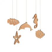 Australian Sea Life Christmas Ornaments - Box Set - Tasmanian Oak Wood