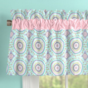 Carousel Designs Aqua Haute Baby Window Valance Rod Pocket