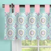 Carousel Designs Aqua Haute Baby Window Valance Tab-Top