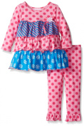 Bonnie Baby Baby-Girls Multi Tiered Dot and Stripe Knit Legging Set