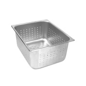 Full Size Perforated Stainless Steel Food Pan 5.1cm - 1.3cm Deep