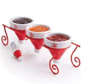 NEW Avon Santa Hat Condiment Set with Spreader