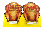4ps (2pks) Pop- Up Timer for Turkey - Heuck's Pop-Up Cooking Kitchen Tool Chicken Poultry Beef, USA Made