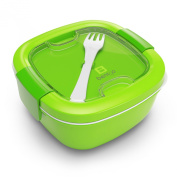 Bentgo Salad (Green) - Conveniently Take Salads and Other Snacks On-the-go - Eco-Friendly & BPA-Free Lunch Container