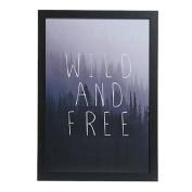 Scandi Wild & Free Framed Art 40cm x 60cm