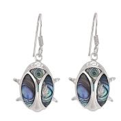 Sterling Silver Paua Oval Earrings