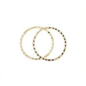 9ct Gold Diamond Cut Sleeper Earrings 14mm