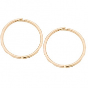 9ct Gold Diamond Cut Sleepers Earrings 13mm