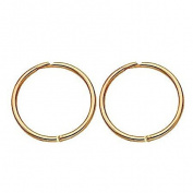 9ct Gold Sleepers Earrings 13mm