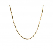 9ct Gold Box Venetian Chain 50cm