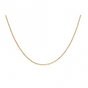 9ct Gold Diamond Cut Oval Belcher Chain 60cm