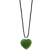Jade Heart Pendant 23mm