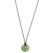 Jade Small Koru Pendant