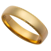 9ct Gold Patterned Wedding Ring