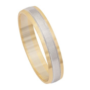 9ct Gold Two Tone Wedding Ring