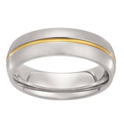 Stainless Steel Gold Plated Ring