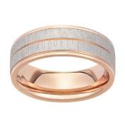 Stainless Steel Rose Gold Plated Matt Ring