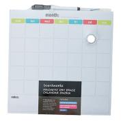Boardworks Magnetic Dry Erase Calendar Board & Accessories 29.2x29.2cm