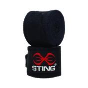Sting Elasticised Hand Wraps Black 4m