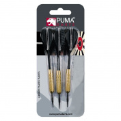 Puma Darts Plastic Flighted Dart Set Assorted Colours Medium