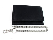 Mens Ladies Boys New Canvas Velcro Wallet Chain Coin Pouch Credit Card Holder