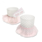 Kate Aspen Tutu Cute Glass Votive, Pink